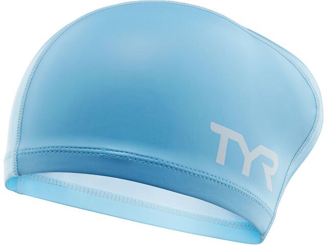 TYR Comfort Gorro de silicona para cabello largo Niños, light blue